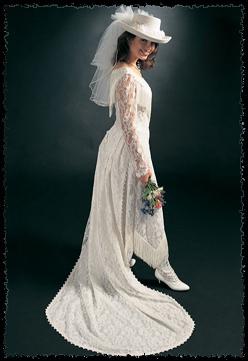 Vintage Western Wedding Dresses 37