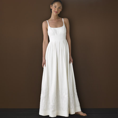For sale j crew raffia embroidered linen gown wedding for J crew beach wedding dress