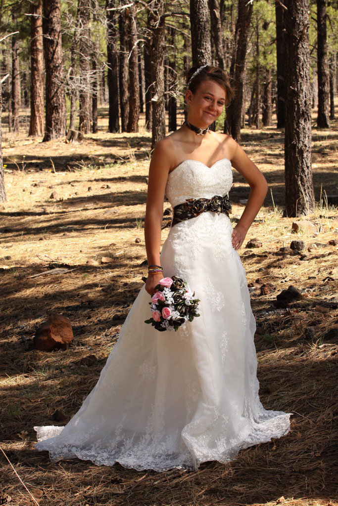 bridal shop specializes in camo bridal, bridesmaids and men\'s attire